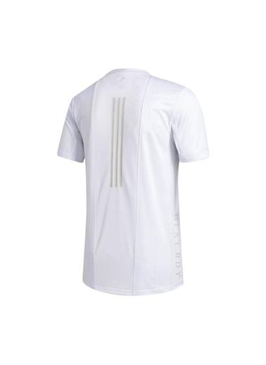 adidas Erkek Heat.Rdy 3-Stripes Tişört FM2098 Beyaz